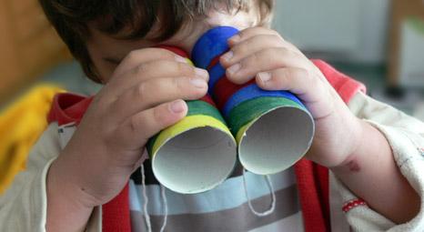 Fernglas basteln für kinder