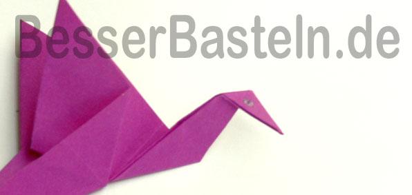Origami Tiere Falten Einfacher Kranich