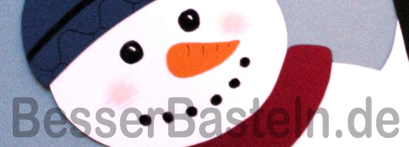 Schneemann aus tonpapier - Weihnachts fensterbilder basteln ...