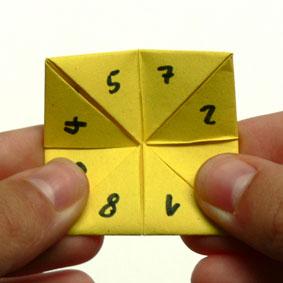 origami spiele falten