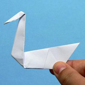 origami schwan. Black Bedroom Furniture Sets. Home Design Ideas