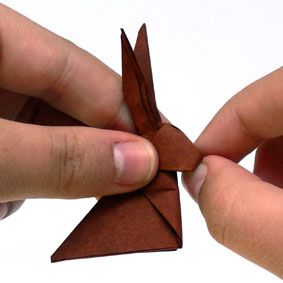 origami tiere falten hase. Black Bedroom Furniture Sets. Home Design Ideas