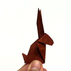 Origami Hase Faltanleitung einfach ausführlich