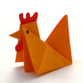 origami tiere falten huhn. Black Bedroom Furniture Sets. Home Design Ideas