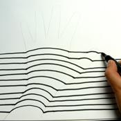 Gemalte 3d Hand Optische Täuschung