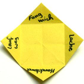 origami gegenst nde falten himmel und hoelle f r kinder. Black Bedroom Furniture Sets. Home Design Ideas