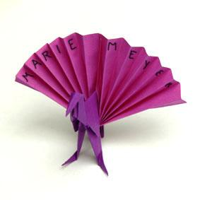 Faltanleitung: Origami Pfau