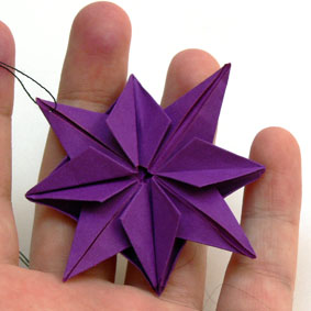 Turbo Origami Gegenstände falten - Stern BO81