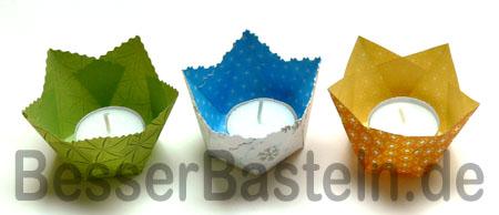 Einen Teelichtbehälter Blume Mit Kindern Basteln