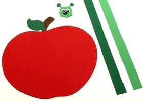 Apfel Vorlage Herbstbastelprojekte Vorlagen Apfel Basteln