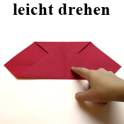 Faltanleitung: Origami Herz